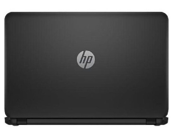 backside of the hp 15 laptop computer