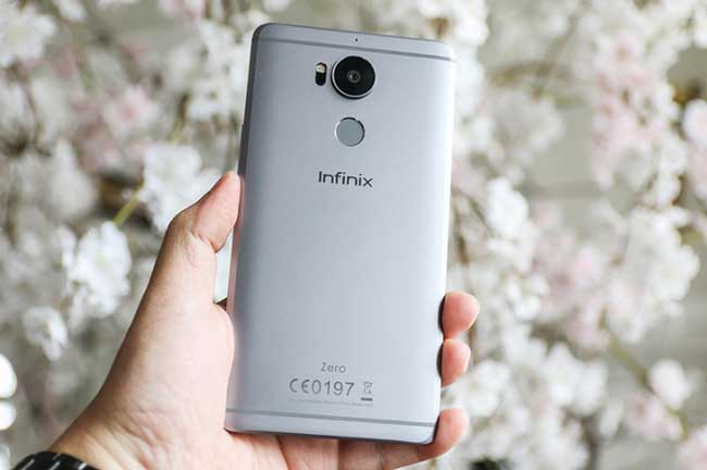 back view of the infinix zero 4 in Nigeria and kenya