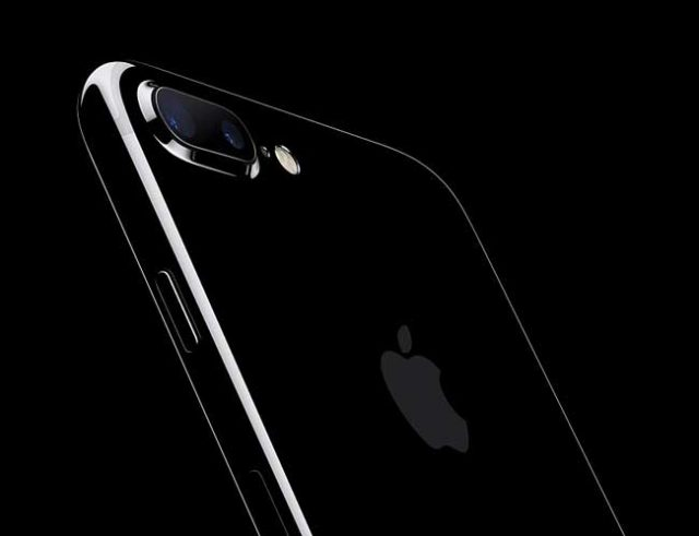 Silhouette of Apple iPhone 7 plus