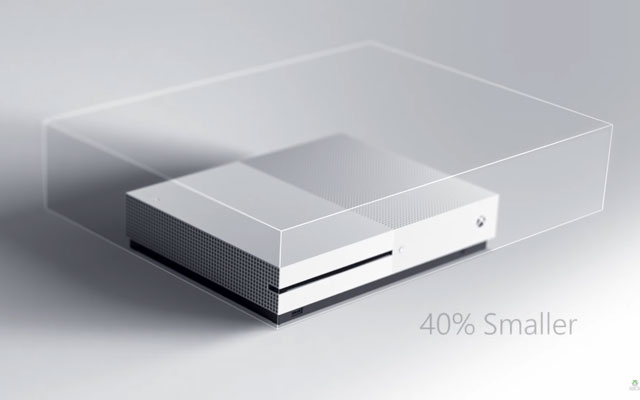 40percent reduction in the size of the Xbox One gaming Console