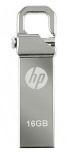 Hp-flash-drive-with-clip-silver 16gb