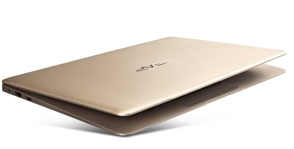 design and thickness of the leapbook laptop a100 by innjoo