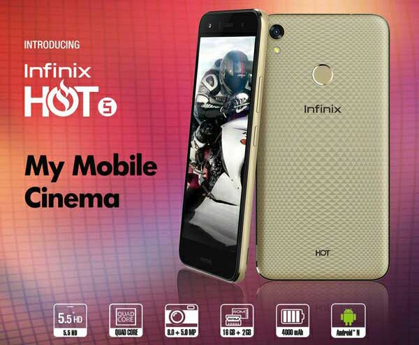 Infinix Hot 5 comparison Price Specs and Features Review