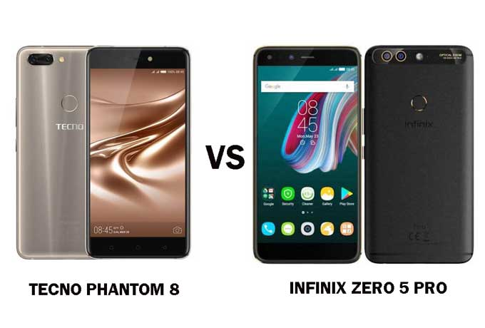 Tecno Phantom 8 Vs Infinix Zero 5 Pro Comparison: Similarities and