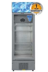 Von Hotpoint HPBC158W Tropicalised Vertical Cooler With Double Glass Door 5.6Cu.Ft 150 Litres White