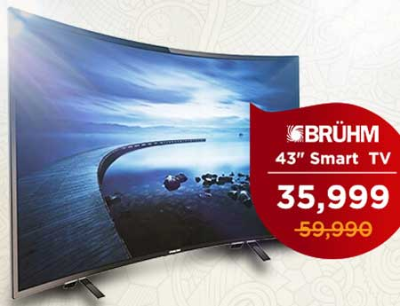 Bruhm BFP- 43LETW - 43 - HD LED Smart Digital TV 4K UHD