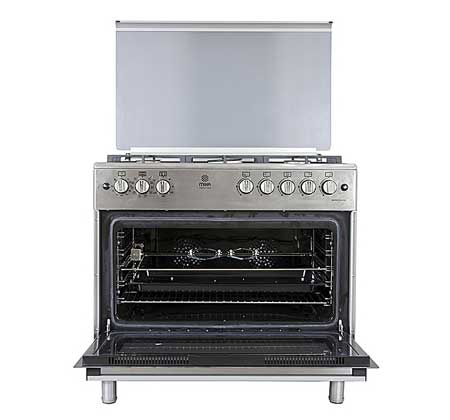 MIKA-MST90PU5GHI-HC-Standing-Cooker,-5-Gas-Burners,-Full-Size-Electric-Oven