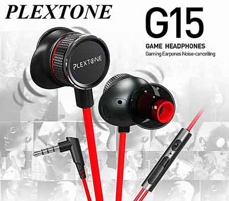 Plextone-G15-game-earphone-noise-reduction-earphones-Computer-audio-video-earphones for Gaming